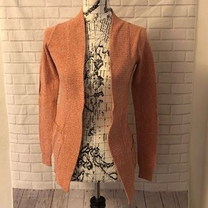 Anthropologie staring at stars orange cardigan
